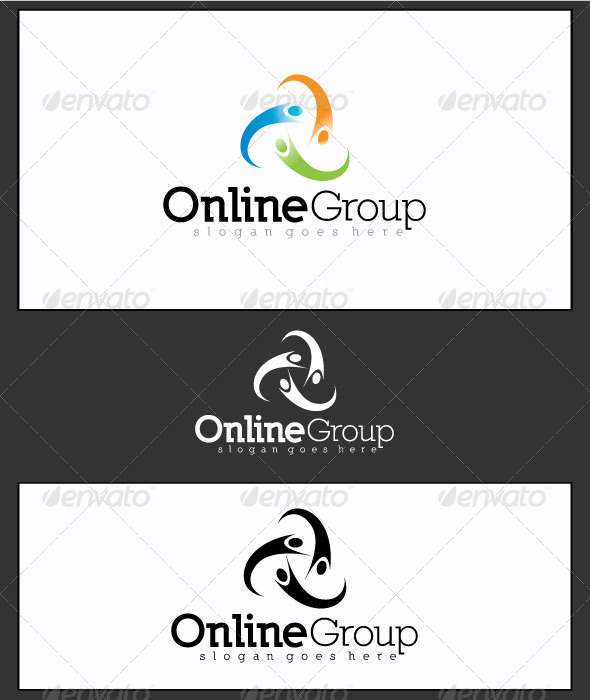 GraphicRiver Online Group Logo Template 3633459