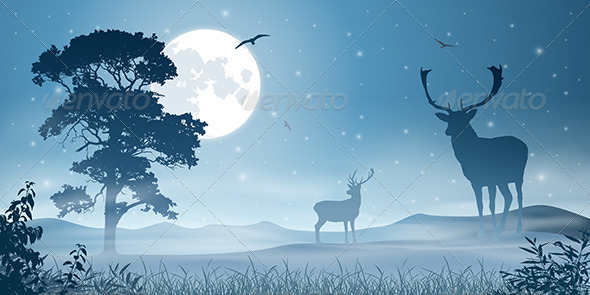 GraphicRiver Male Stag Deer 3634775