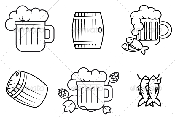 GraphicRiver Beer and Alcohol Symbols 3634899