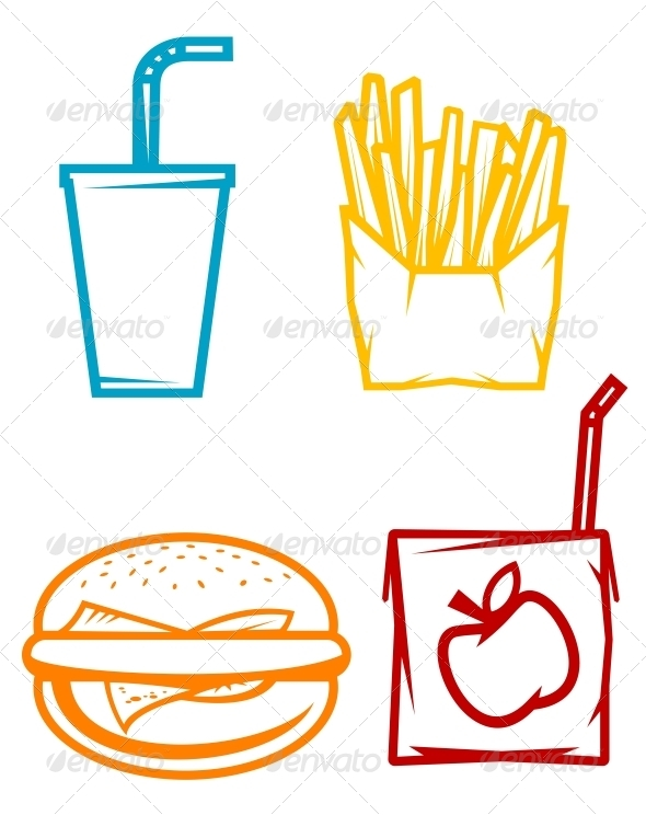 GraphicRiver Fast Food Symbols 3634920 Created: