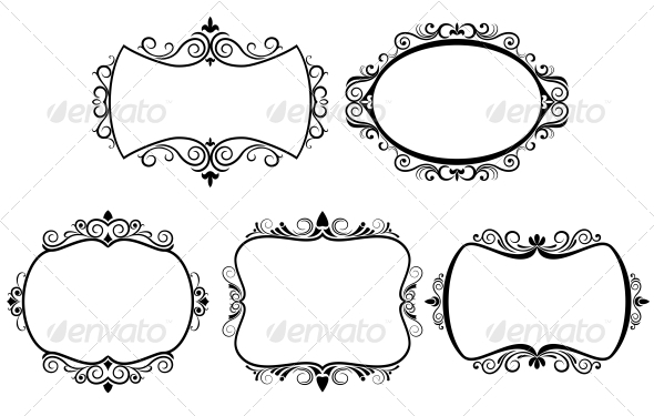 GraphicRiver Set of Vintage Frames 3634923