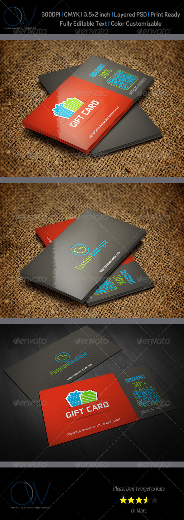 GraphicRiver Gift Voucher Card Vol.1 3635143