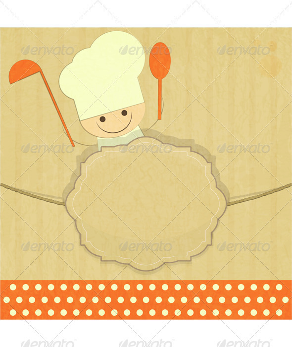GraphicRiver Design of Kids Menu with Smiling Chefs 3635260