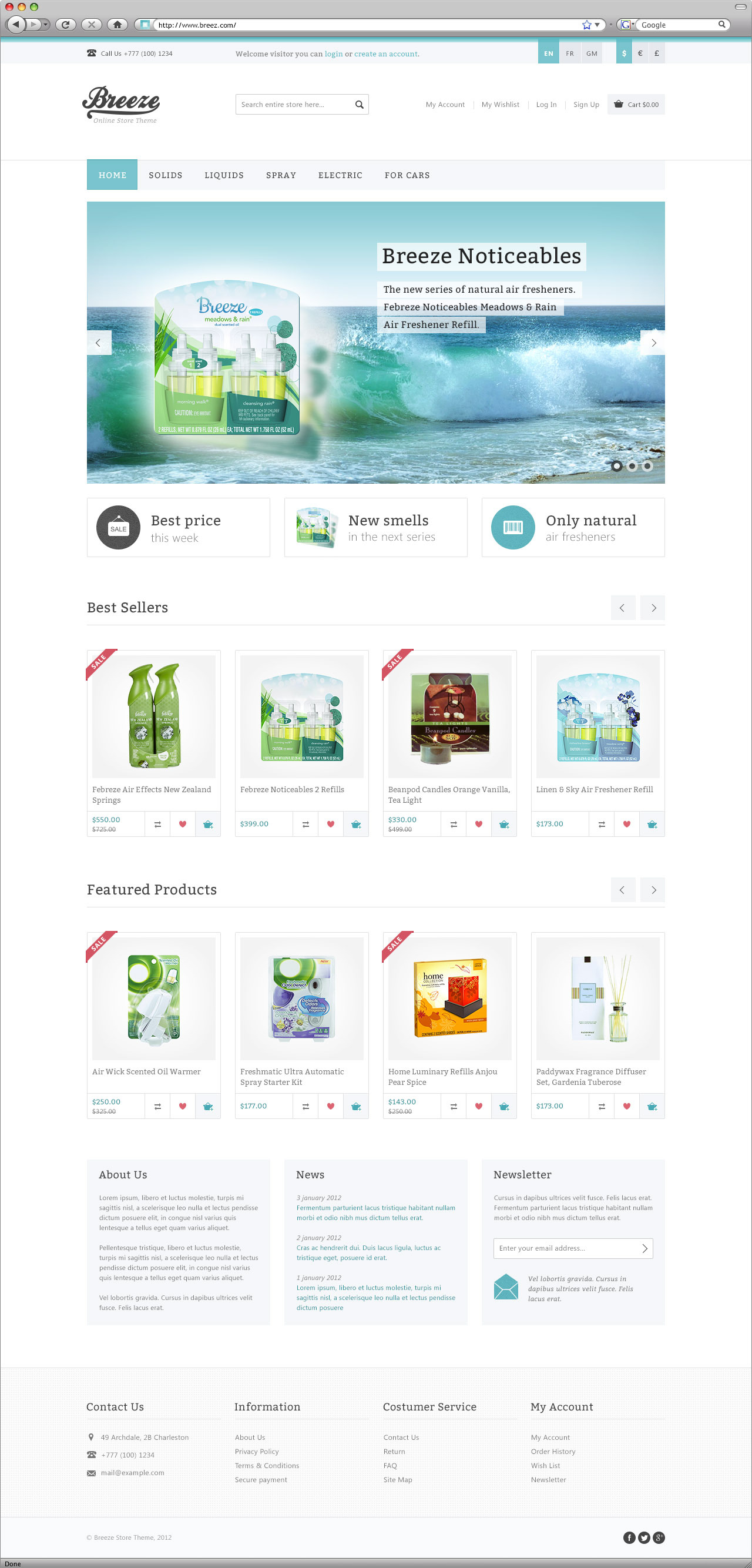 Breeze — online store template