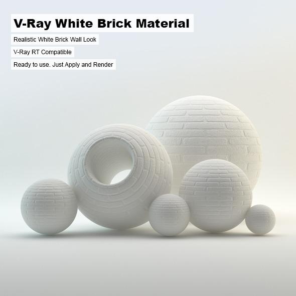 3DOcean V-Ray White Brick Material 3637634