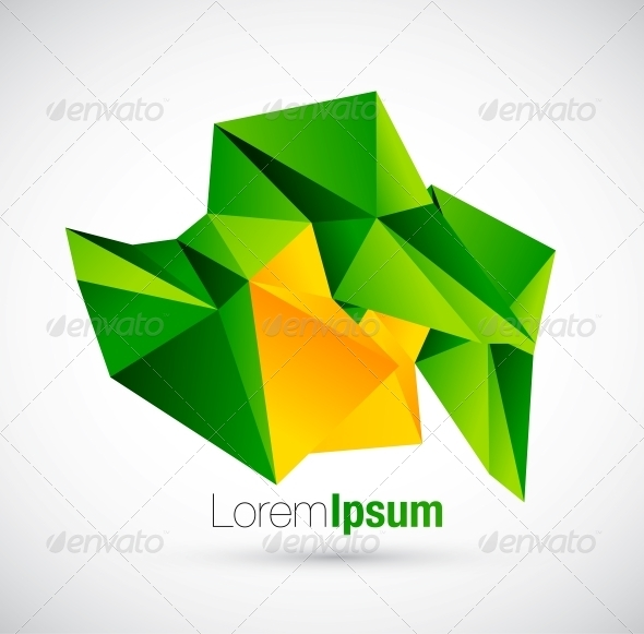 GraphicRiver Abstract Colorful Geometric Vector Background 3637979
