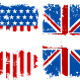 Grunge Banners USA and UK National Flags - GraphicRiver Item for Sale