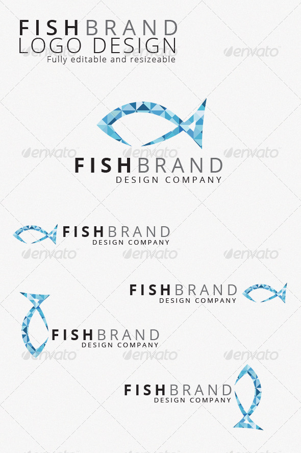 Gstudio Fishbrand Logo Template - Animals Logo Templates