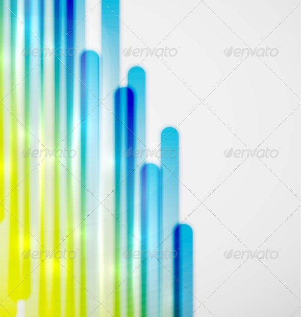 GraphicRiver Color Lines Vector Background 3638214