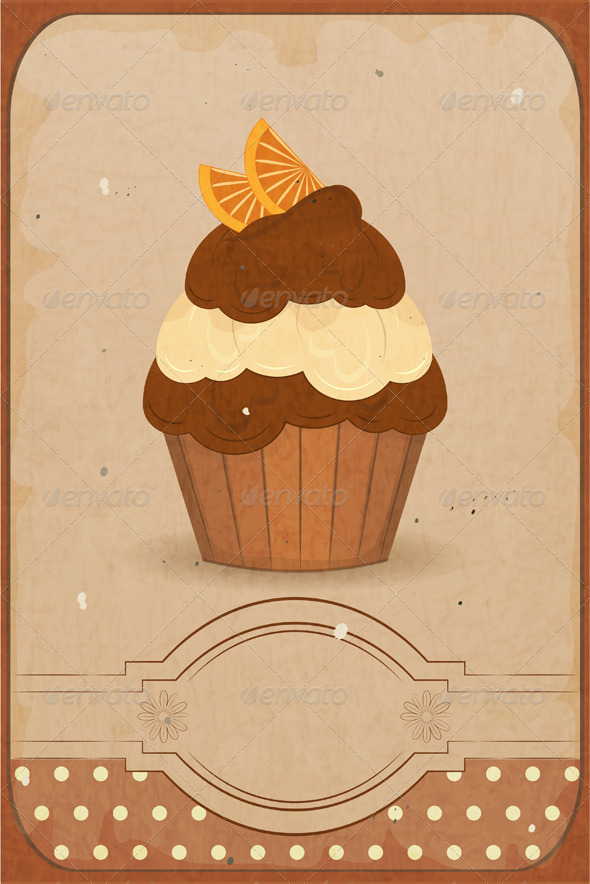 GraphicRiver Muffin with Orange 3638552