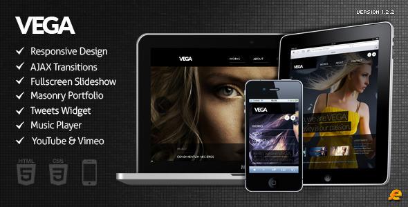 ThemeForest Vega HTML5 Responsive Template 2402989