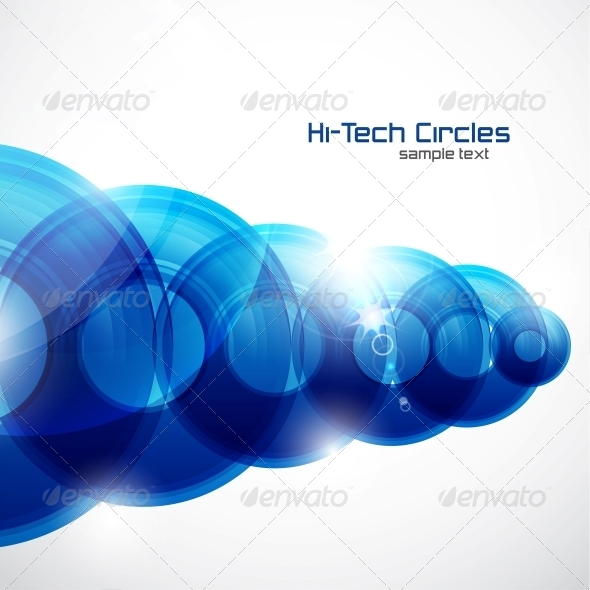 GraphicRiver Shiny Circles Abstract Futuristic Background 3639163