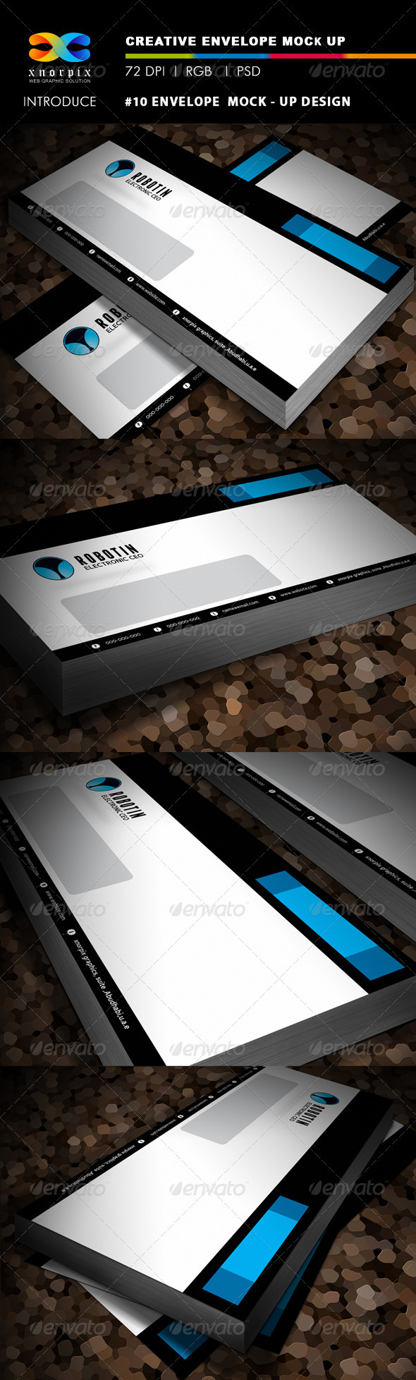#10 Envelope Mock-up - Stationery Print