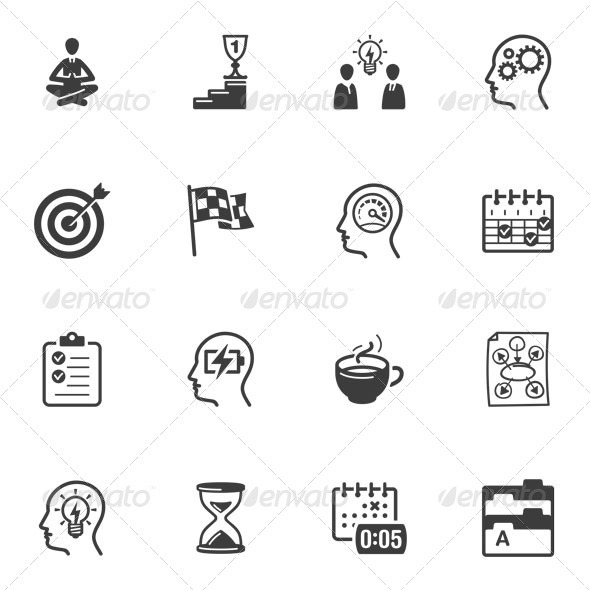 GraphicRiver Productive at Work Icons 3324557