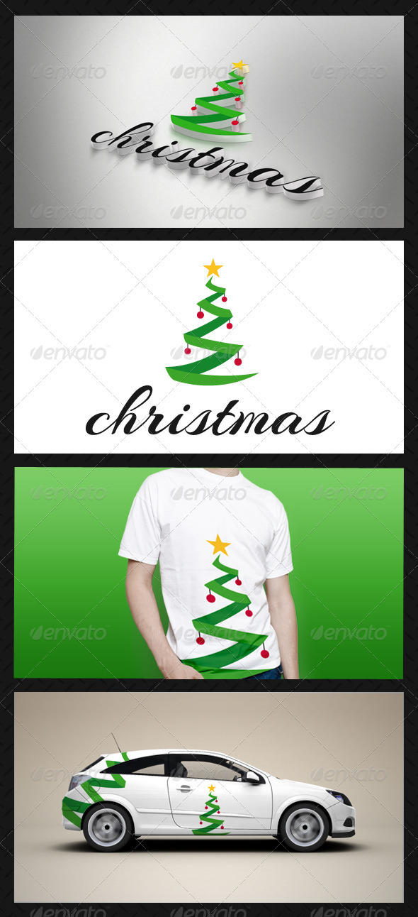 GraphicRiver Christmas Tree Logo Template 3587968