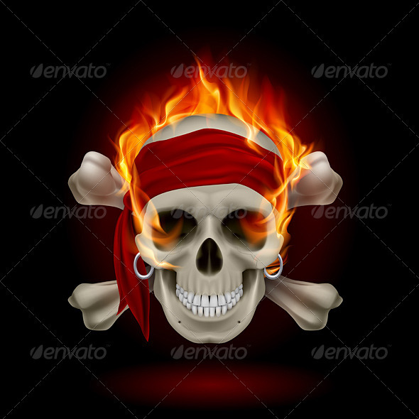 GraphicRiver Skull in Flames 3640509