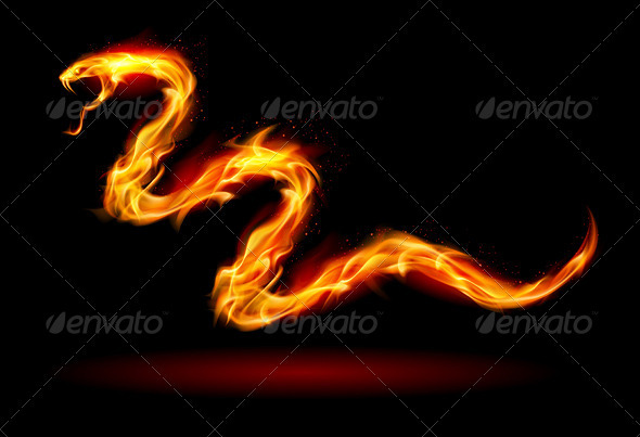 GraphicRiver Fire snake 3640565
