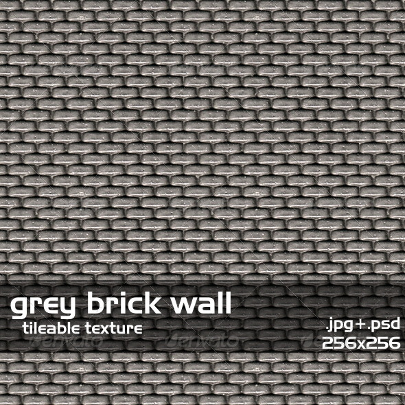 3DOcean Gray Brick Wall 3640812