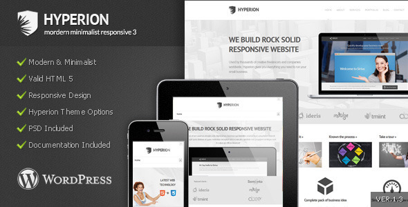 Hyperion - Modern Minimalist Wordpress Theme - Corporate WordPress