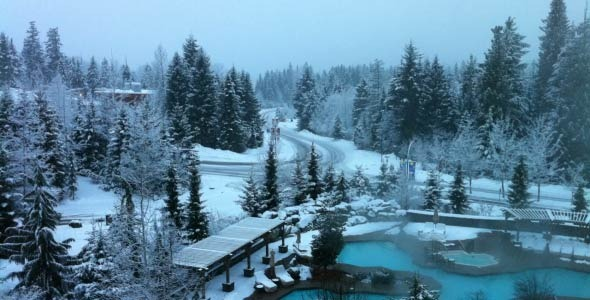 VideoHive Whistler Upper Village Early Morning Time Lapse 3641061