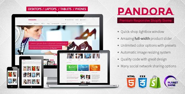 ThemeForest Pandora Responsive Shopify HTML5 Theme 3641189