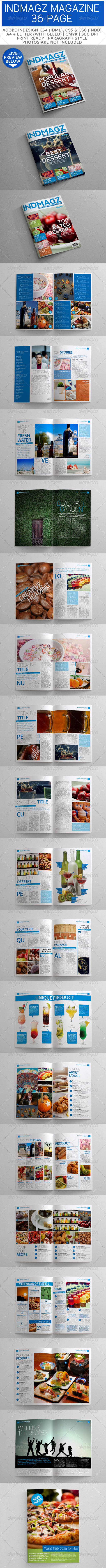 GraphicRiver 36 Pages Modern & Clean Magazine Templates 3249928