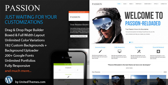 ThemeForest Passion Reloaded Responsive WordPress Theme 2550867