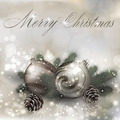 Merry Christmas greeting card with Christmas balls - PhotoDune Item for Sale