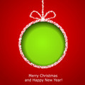 Abstract Xmas greeting card with green Christmas ball - PhotoDune Item for Sale