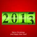 Green New Year counter on red background - PhotoDune Item for Sale