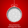Abstract Xmas greeting card with Christmas ball  - PhotoDune Item for Sale