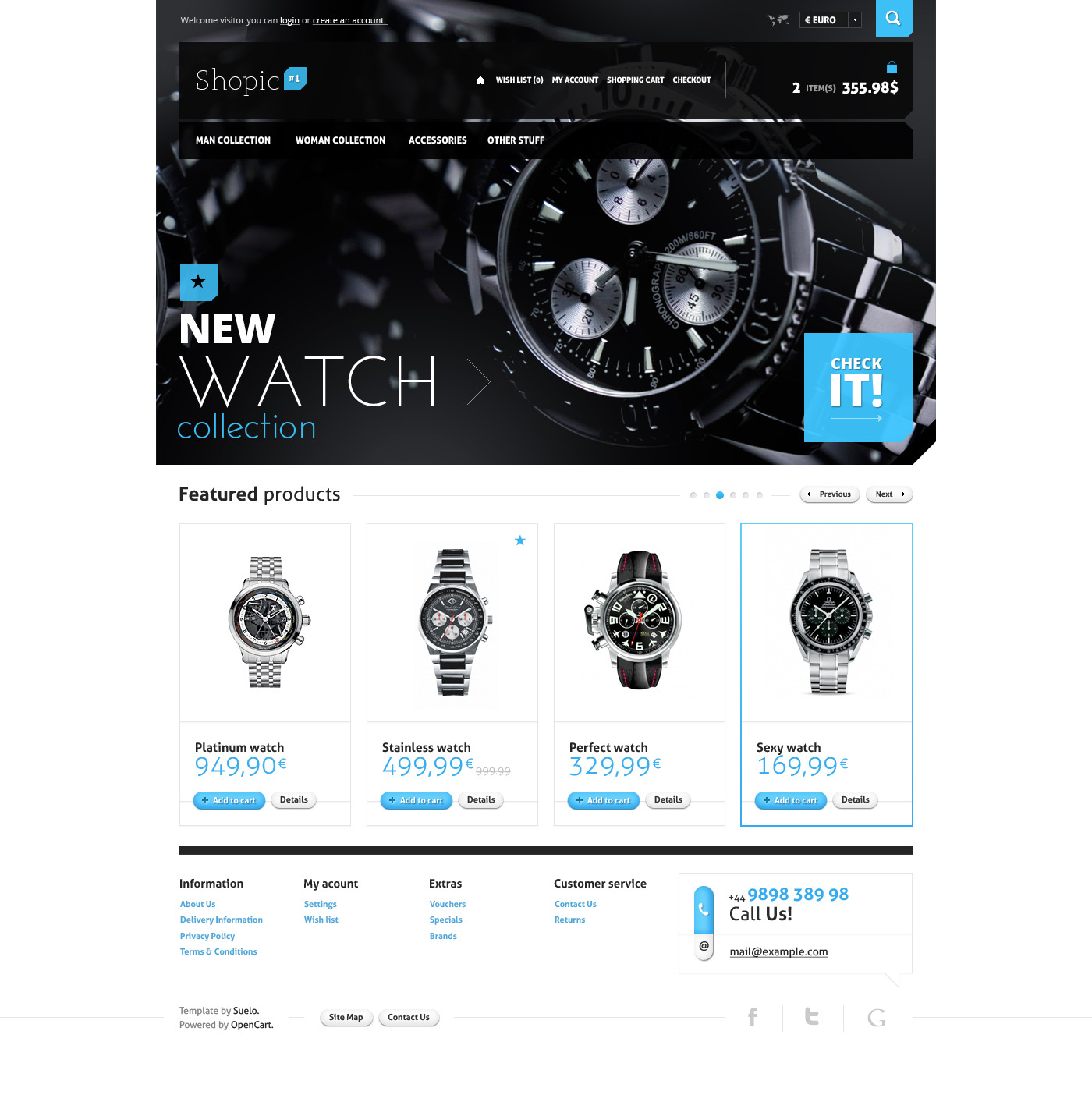 Shopic#1 - OpenCart PSD Template