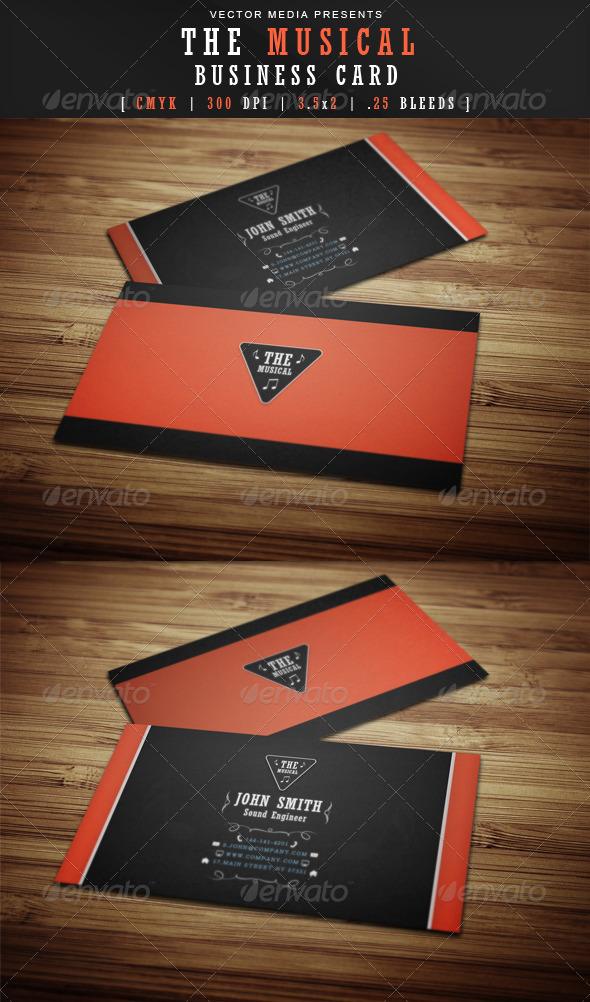 GraphicRiver The Musical Business Card 3643607