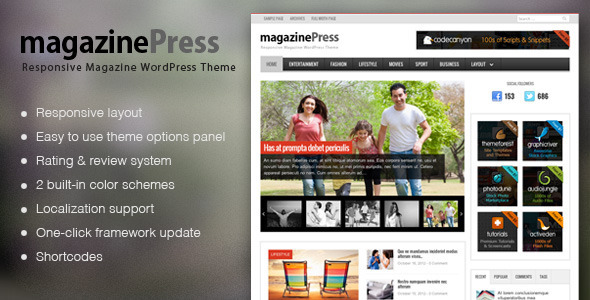 MagazinePress - WordPress Theme With Review System - News / Editorial Blog / Magazine