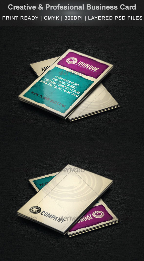 Creative & Profesional Business Card - Creative Business Cards