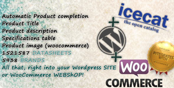 IceCat product information for woocommerce - CodeCanyon Item for Sale