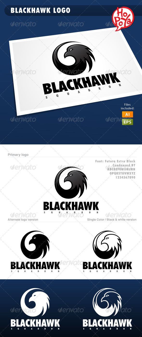 GraphicRiver Blackhawk Logo 3646925