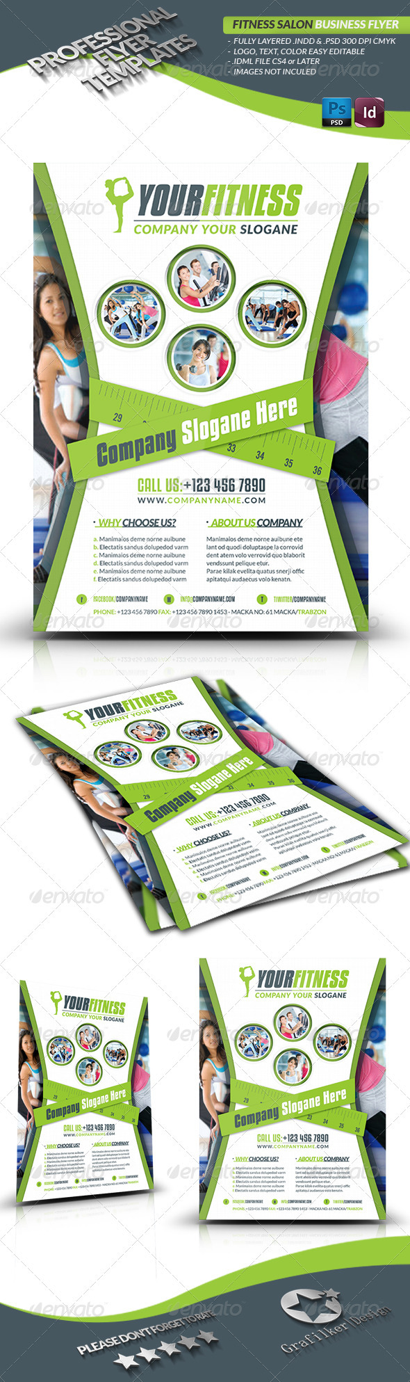 GraphicRiver Fitness Salon Business Flyer 3233457
