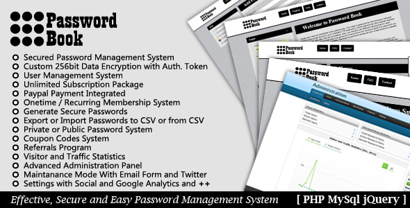 CodeCanyon Password Book Password Management System 3647977
