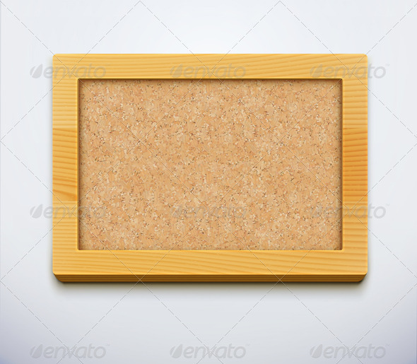GraphicRiver Blank Cork Bulletin Board 3648909