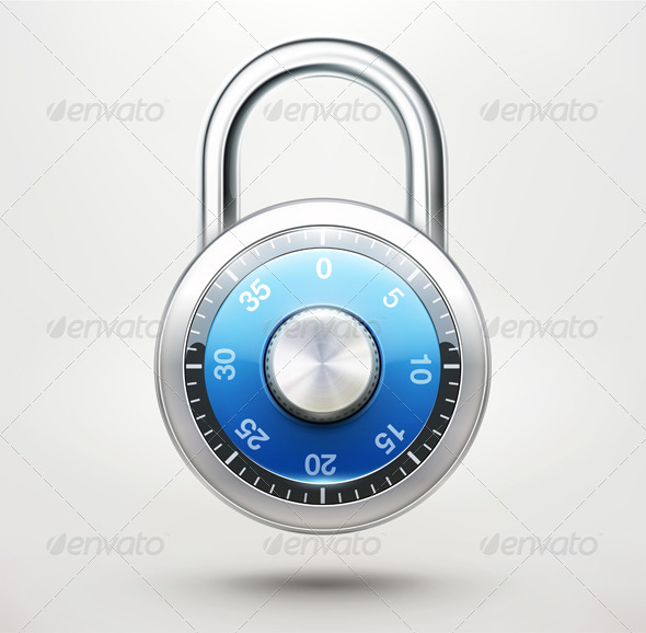 GraphicRiver Combination Padlock 3648916