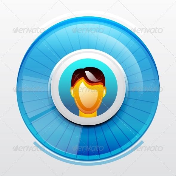 GraphicRiver Blue User Pic Icon 3649082