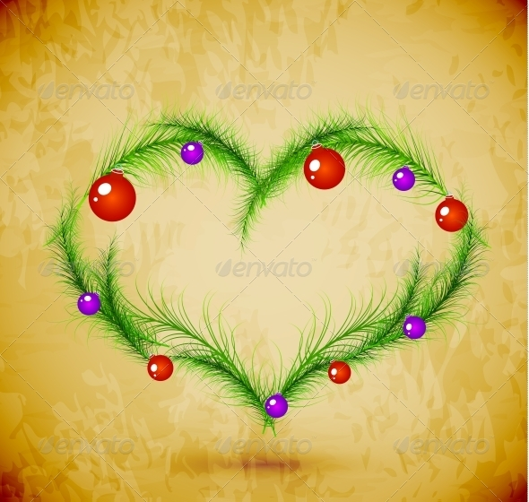 GraphicRiver Christmas Love Heart 3649495