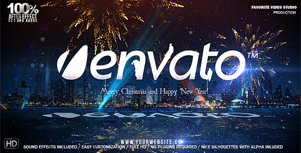 VideoHive Christmas City Logo 3649507