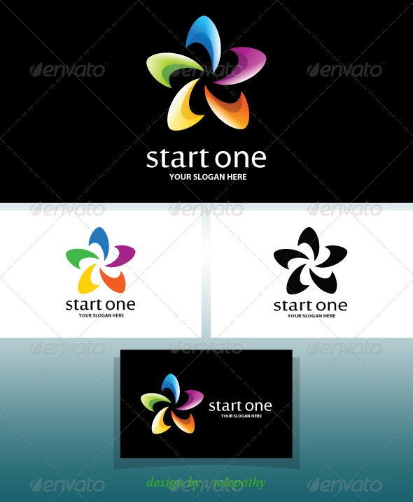 GraphicRiver StartOne cheerful logo 3621377