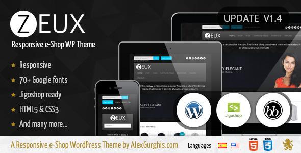 ThemeForest Zeux A Responsive e-Shop WordPress Theme 2514052