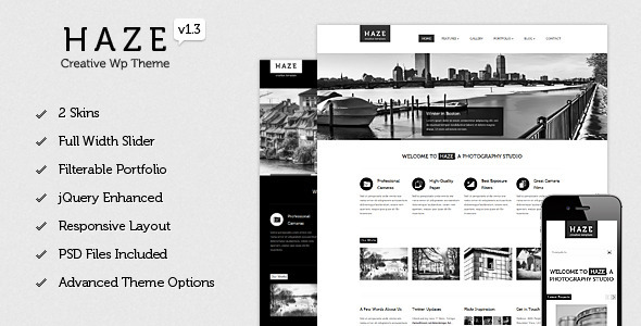 Haze - Beautiful WordPress Theme - Creative WordPress