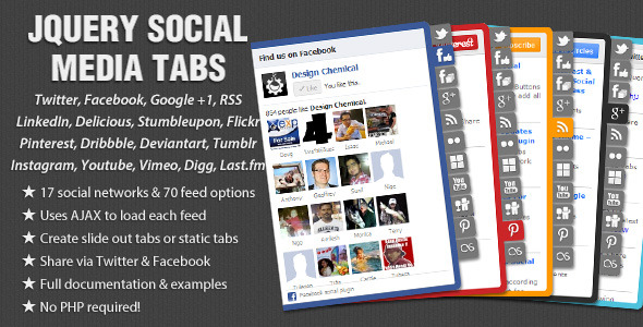 CodeCanyon jQuery Social Media Tabs 1932796