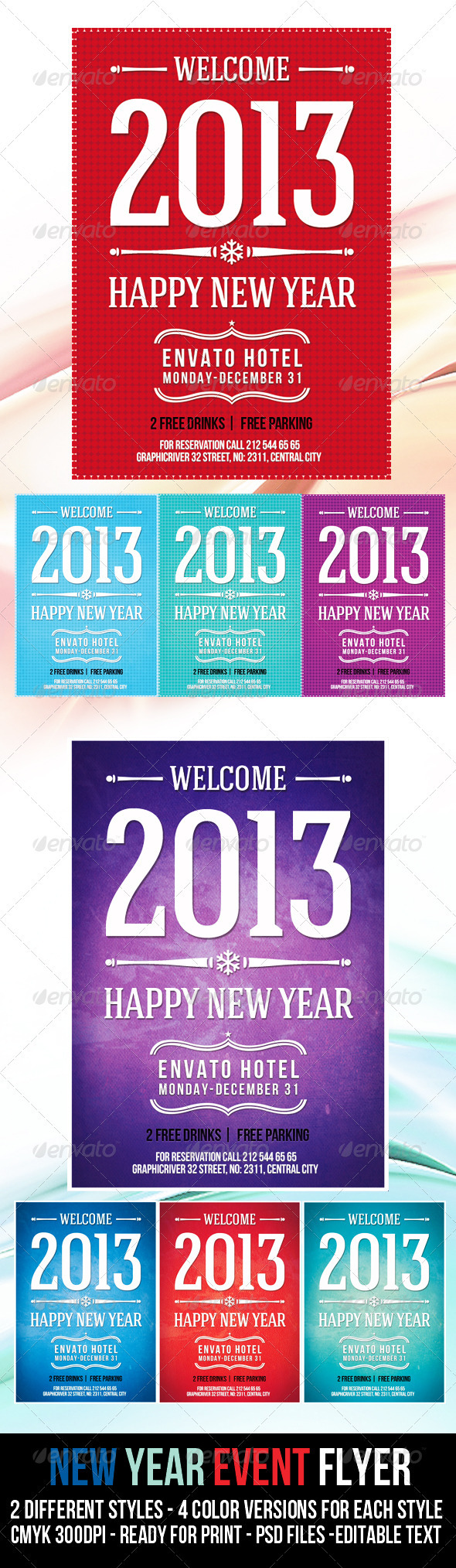 GraphicRiver New Year Event Flyer 3651230