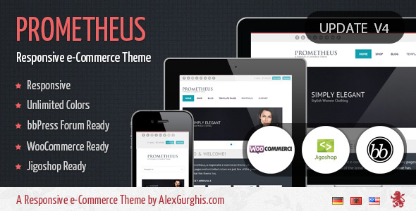 Prometheus - A Responsive e-Commerce Theme